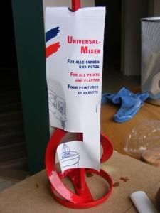 So ein Mixer bietet sich um einrühren von Lehmfarbe an